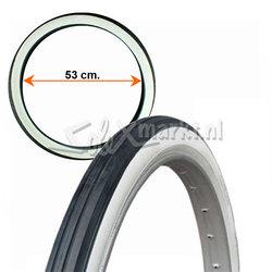 Solex tire 24''  (600 x 45B) - Black/White
