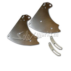 Right and Left engine mount - Stainless steel (Universal 19''Solex)