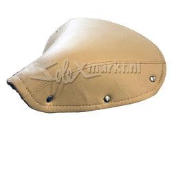 Saddle cover France Solex - Brown / Beige