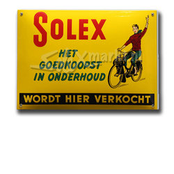Solex emaille plate - (14x10cm)