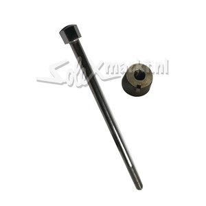 Handlebar bolt with nut.