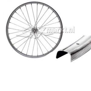 Solex Frontwheel 24'' - Complete spoked - Flat Rim