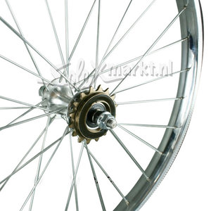 Solex Rearwheel (France) 24'' - Complete spoked - Flat Rim