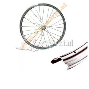 Solex Frontwheel 19'' - Complete spoked - Dutch Rim (with uplift)