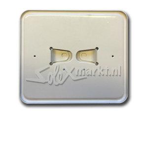 License plate holder (Dutch) White - Wide model