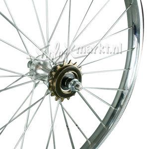 Solex Rearwheel (France) 19'' - Complete spoked - Flat Rim