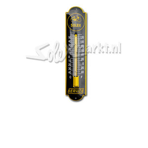 Solex emaille thermometer - (6,5x30cm)