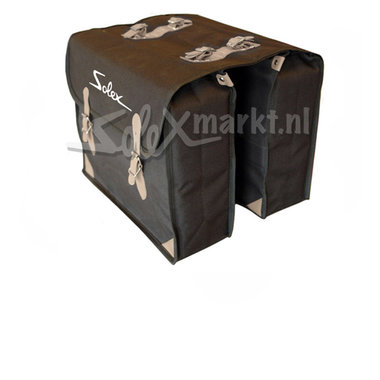 Solex bag (black) with print ''Solex''